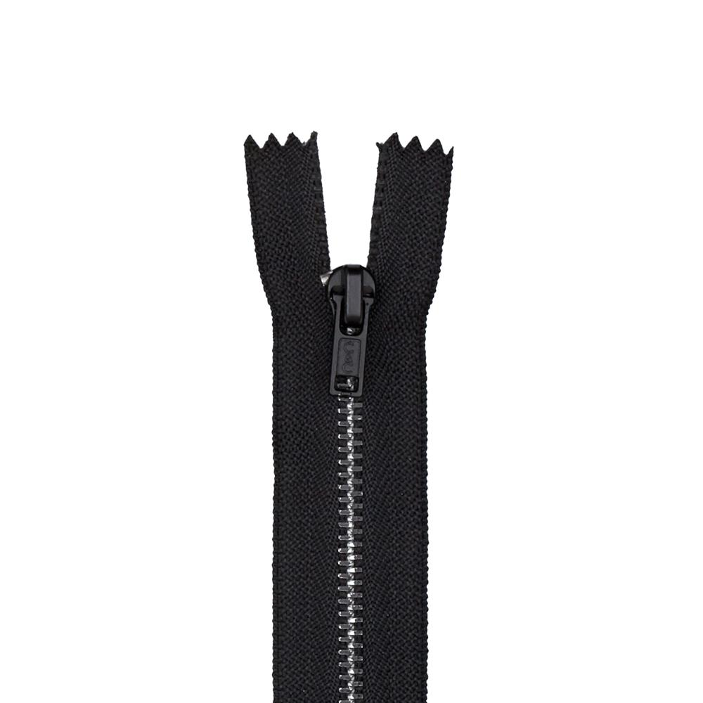 Metal All Purpose Zipper 18'' Black