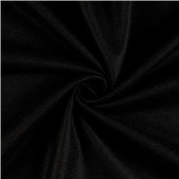 Solid Wool Melton Black