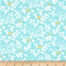 Violet Craft Brambleberry Ridge Metallic Aqua Fabric