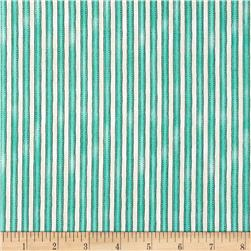 Maywood Studio Roam Sweet Home Awning Stripe Aqua