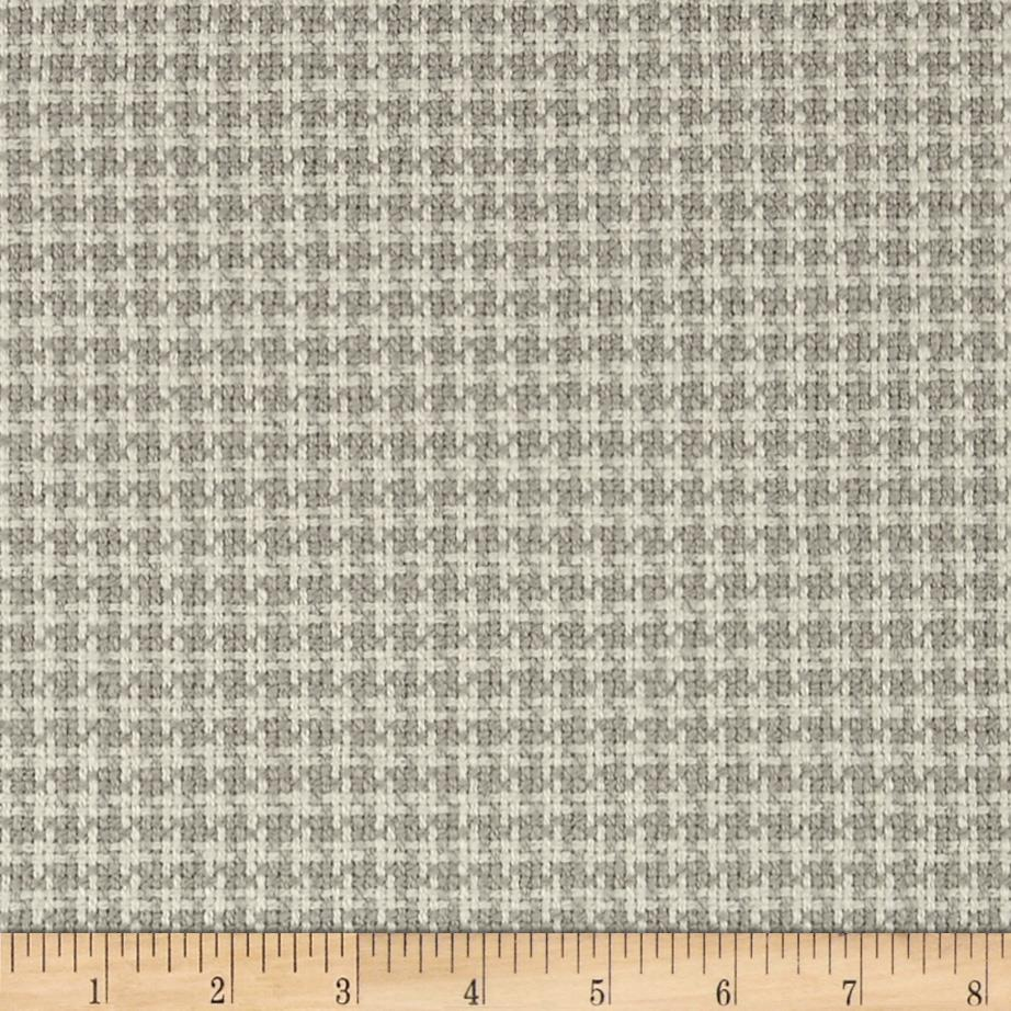 Richloom Osana Woven Checkered Plaid Cement