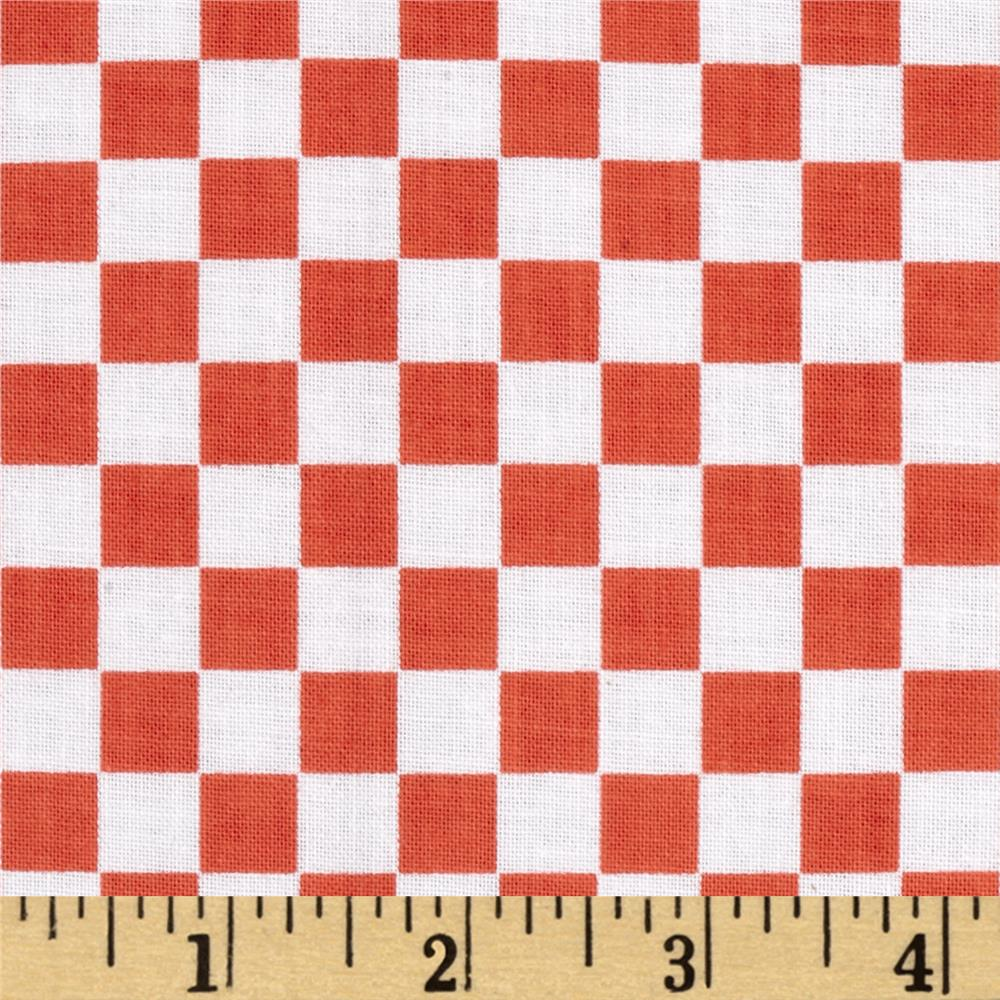 Ribs & Bibs Checkerboard Red