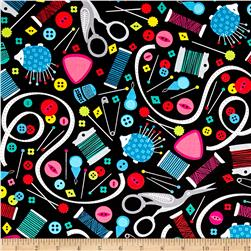 Sew Much Fun Sewing Paraphernalia Black