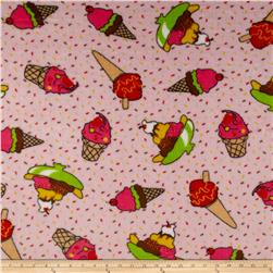 Whisper Coral Fleece Ice Cream Pink Fabric