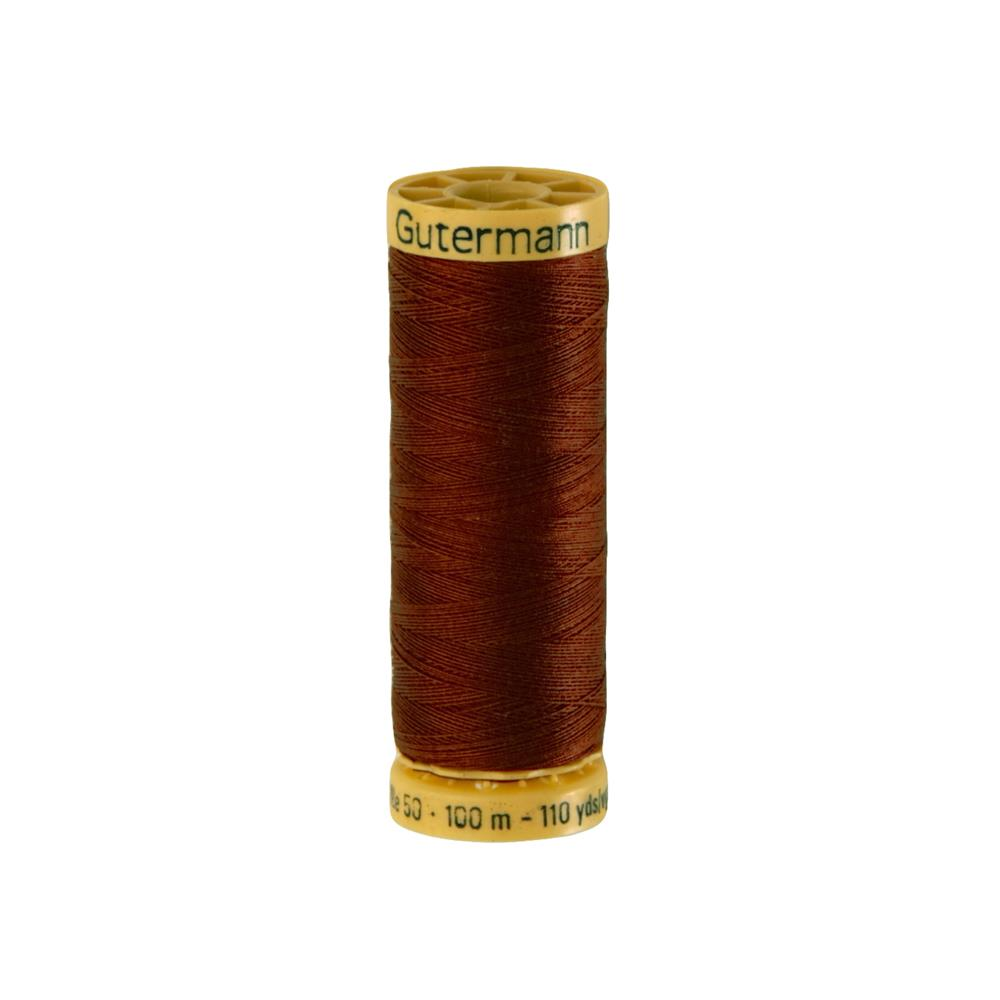 Gutermann Natural Cotton Thread 100m/109yds Rust