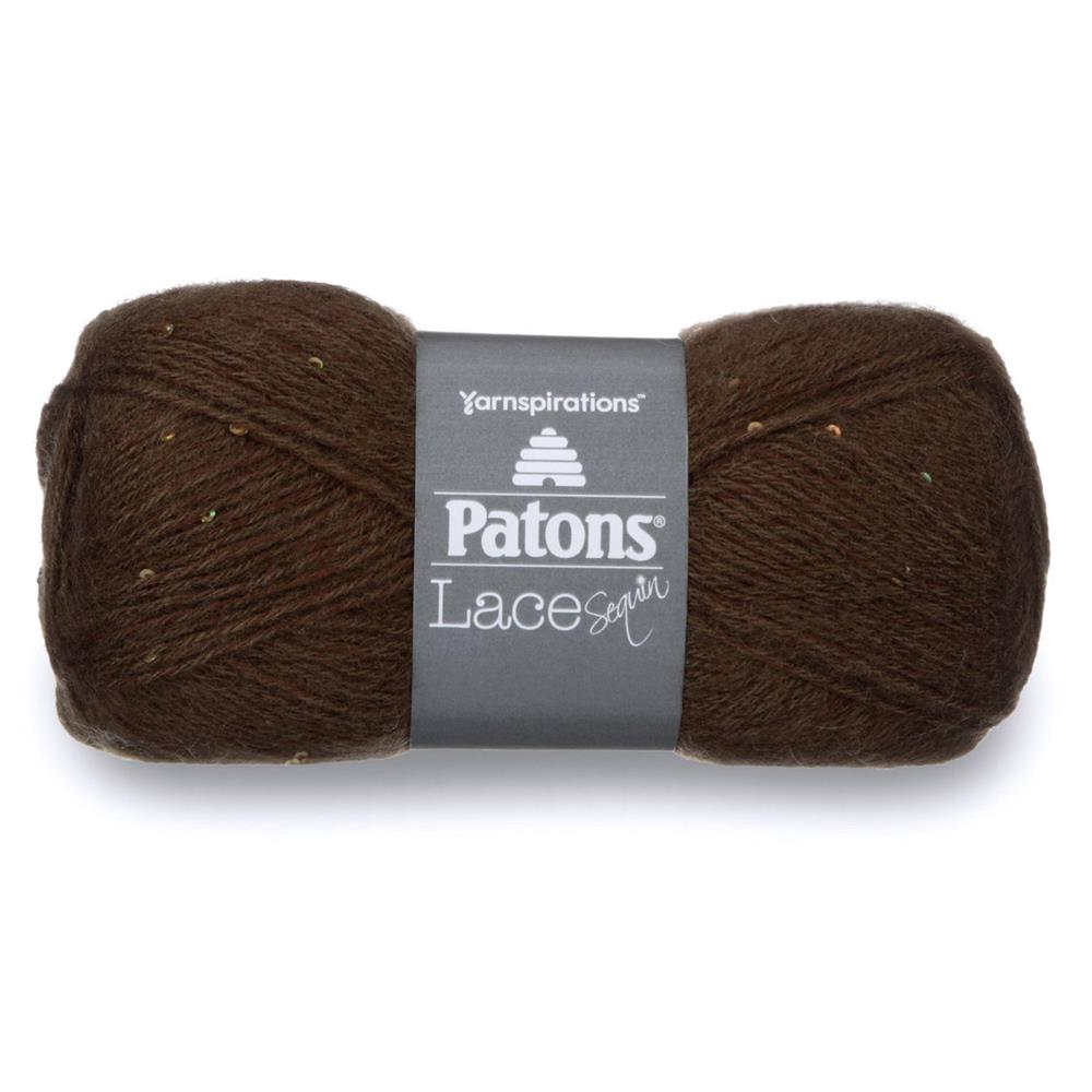 Patons Sequin Lace Yarn (37010) Chocolate Diamond