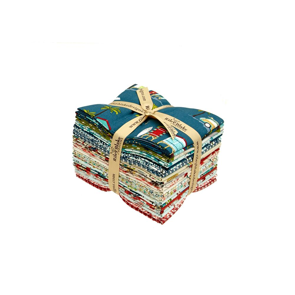 Riley Blake Offshore Fat Quarters Multi