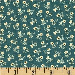 Moda Lilies of the Field Daisies Washed Denim