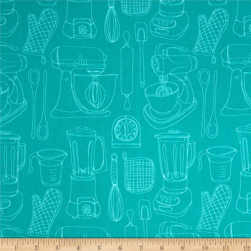 Kitschenette Kitchen Utensils Turquoise