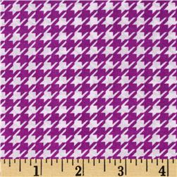 Julianna Stretch Chiffon Houndstooth Wildberry