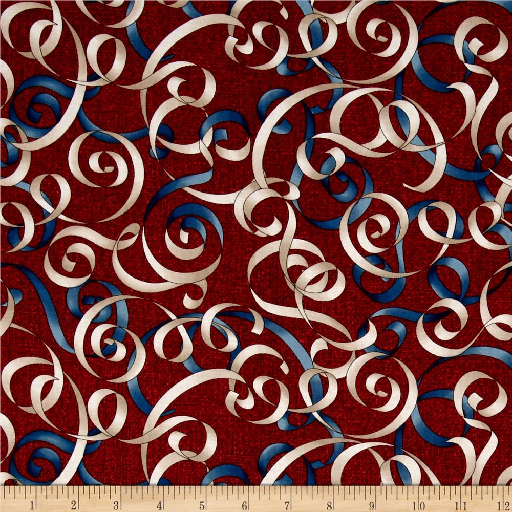 Oh My Stars American Classic Ribbons Red