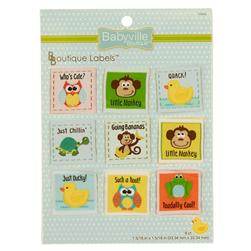 Babyville Boutique Labels Neutral Design
