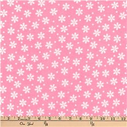 Kaufman Cozy Cotton Flannel Daisies Hot Pink