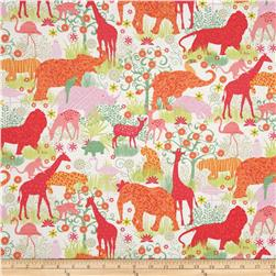 Timeless Treasures Boho Safari Animals Cream