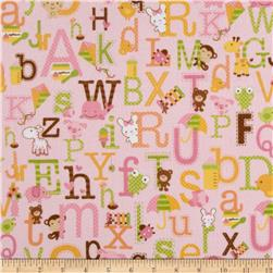 Riley Blake Sweet Baby Girl Flannel Sweet Main Pink