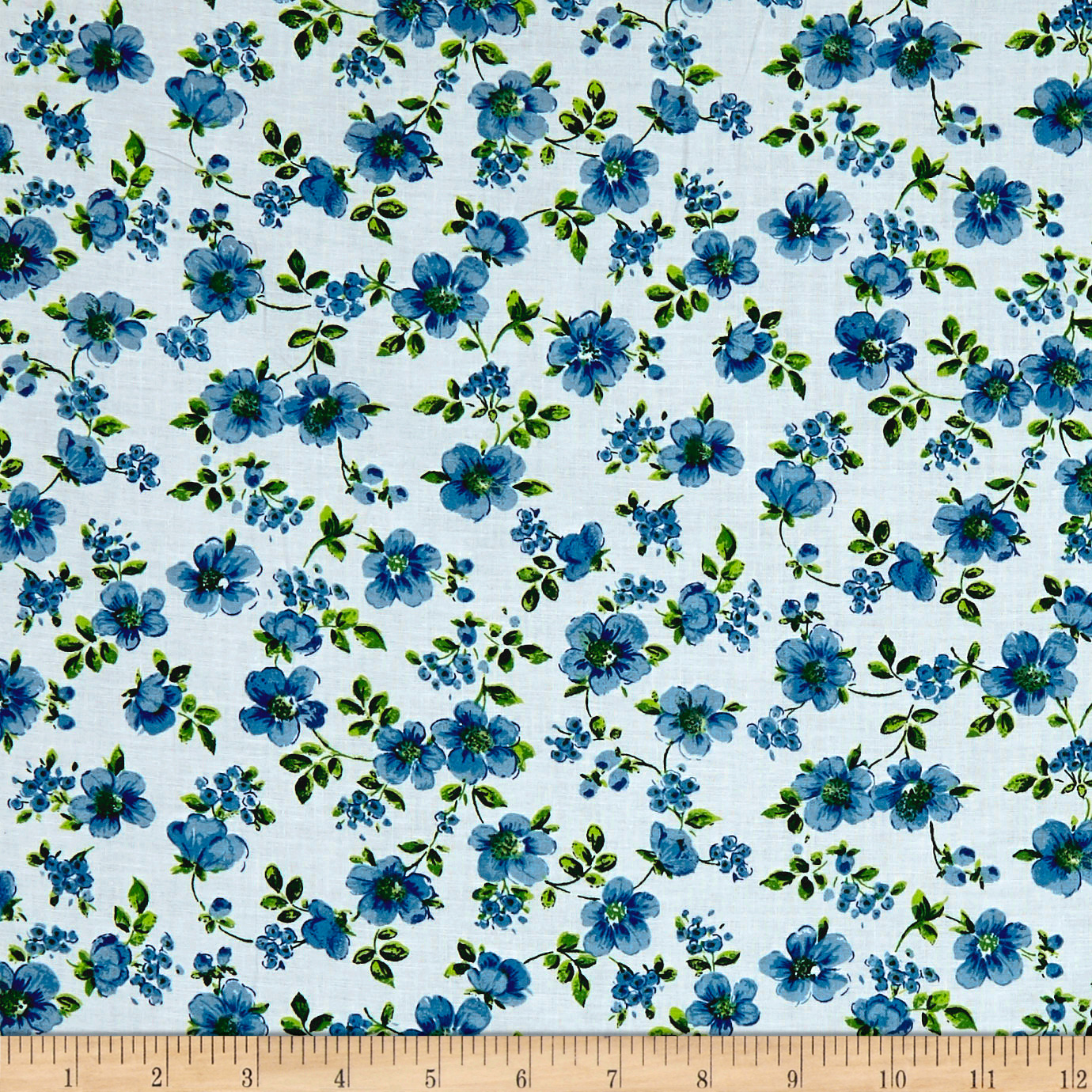INOpets.com Anything for Pets Parents & Their Pets Botanical Garden Blue Fabric