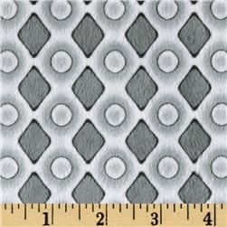 Minky Diamonds & Dots Grey Fabric