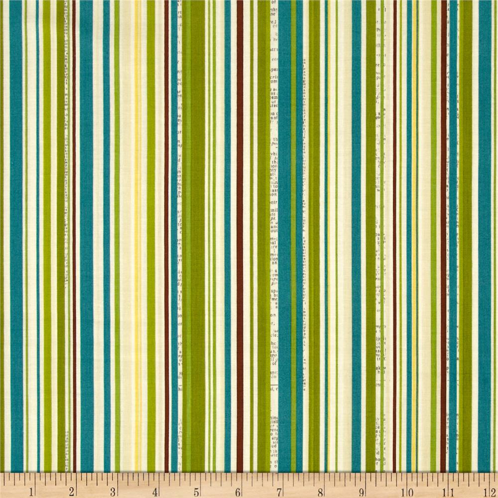 Riley Blake Trail Mix Stripe Teal