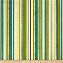 Riley Blake Trail Mix Stripe Teal Fabric