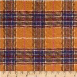 6 oz. Flannel Large Plaid Amber/Navy