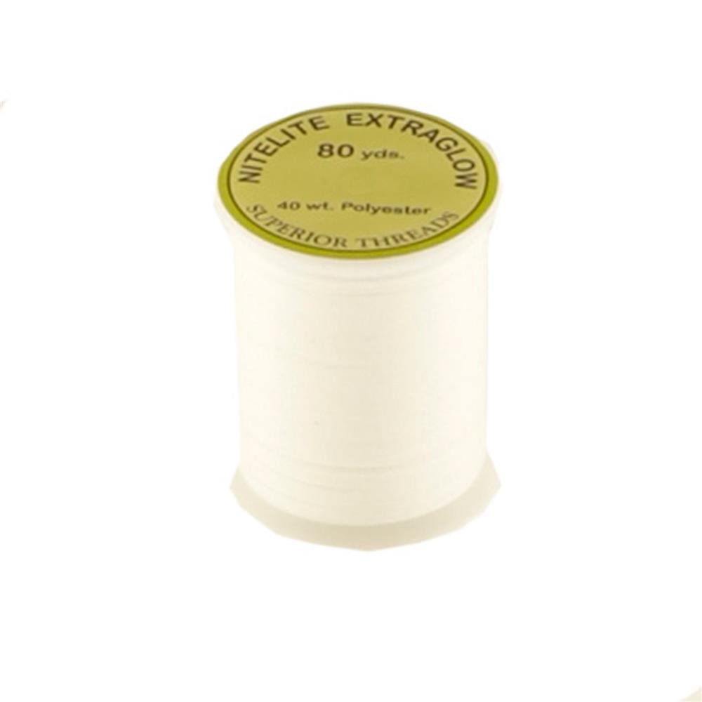 Superior NiteLite ExtraGlow Polyester Glow In The Dark Thread 40wt White 80yds