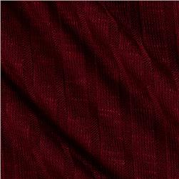 Ribbed Sweater Knit Burgundy