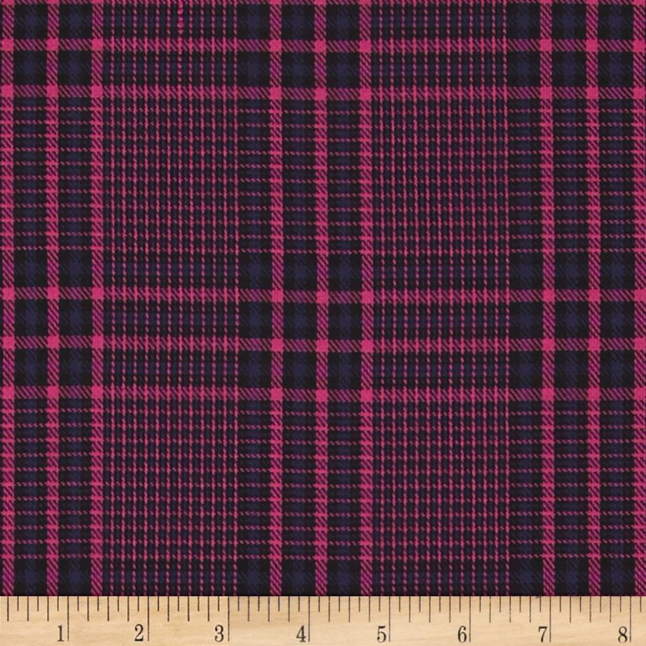 Designer Suiting Plaid Hot Pink/Purple
