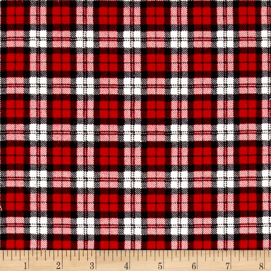 Mad for Plaid Flannel Square Plaid Red Fabric