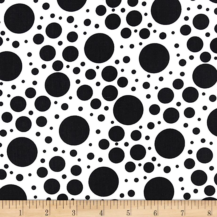 Moda Shades Of Black Tickle Dot White
