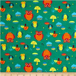 Flannel Owls Green