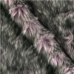 Luxury Faux Fur Wolf Pink Grey