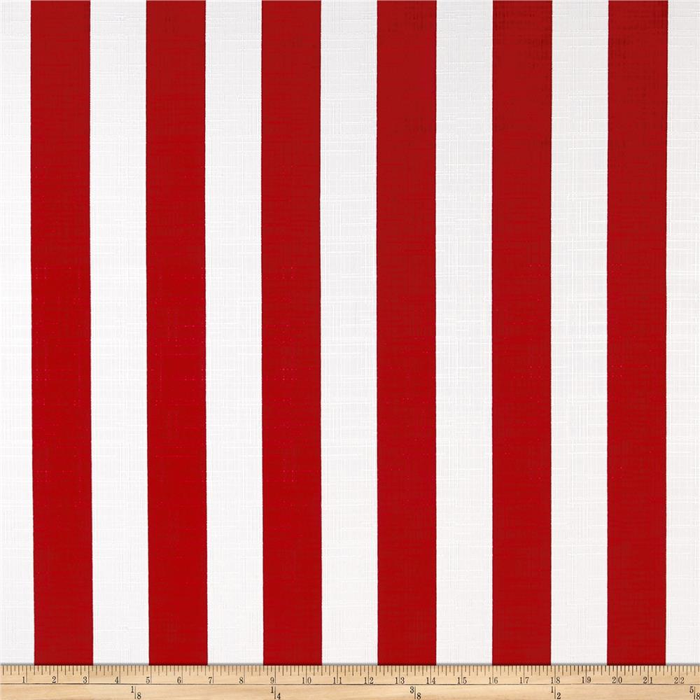 Richloom Solarium Outdoor Classic Stripe Red