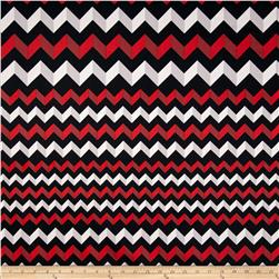 Crinkle Stripe Black/Red/White