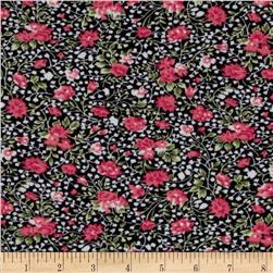 Elle Stretch Jersey Knit Floral Pink/Black
