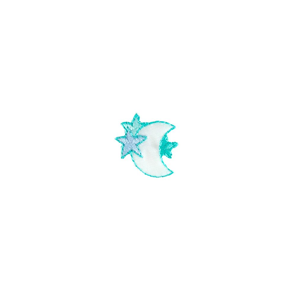 Small Stars & Moon Applique Mint