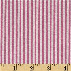 Seersucker Stripe Pink/White