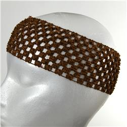 "2 3/4"" Crochet Headband Brown"