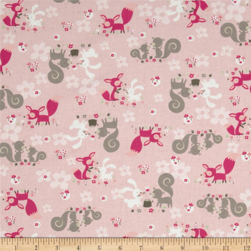 Little Friends Forest Critters Pink