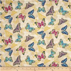 Flights Of Fancy Butterfly Beige