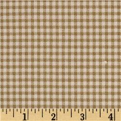 Small Check Ivory/Brown Fabric