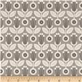 Grey Abbey Organic Deco Floral Grey
