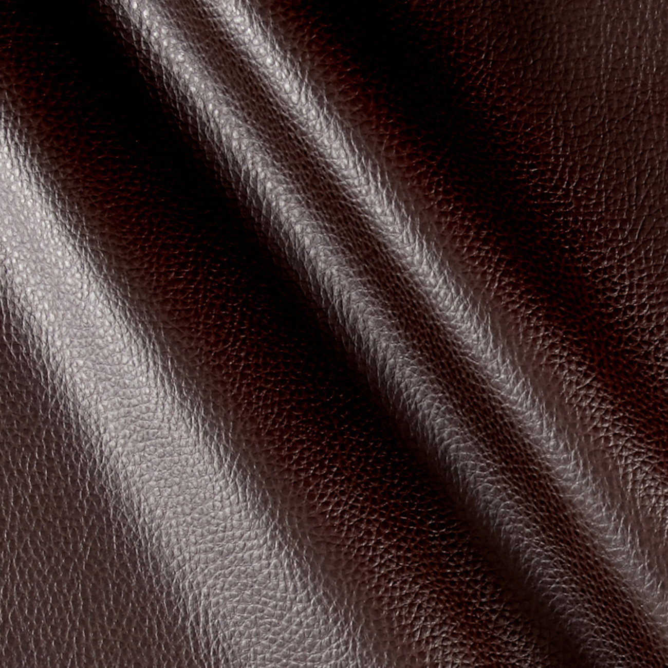 Faux Leather Textured Calf Brown Fabric by Plastex in USA