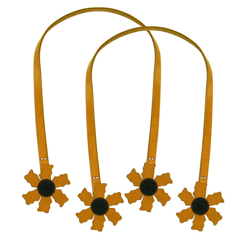 Cindy's Purse Straps 24'' Flower Tan