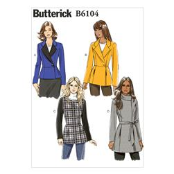 Butterick Misses' Jacket and Belt Pattern B6104 Size B50
