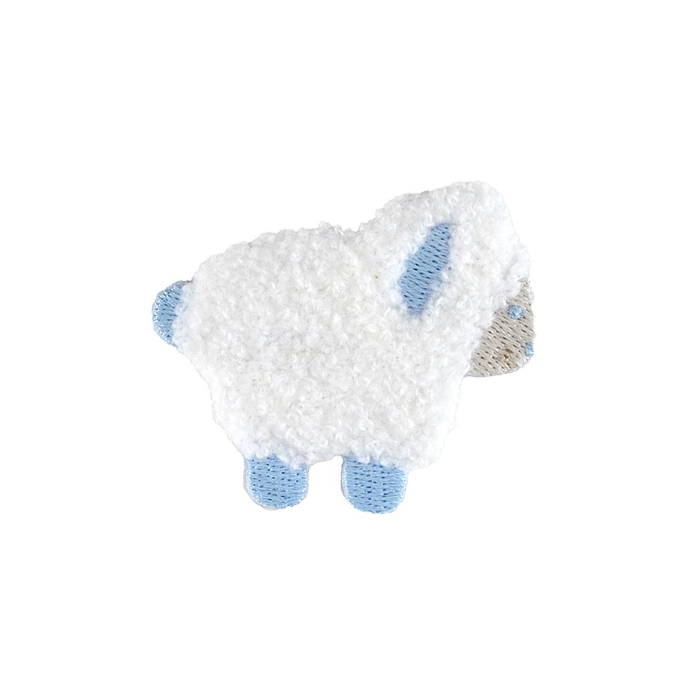 Lamb Applique White/Blue