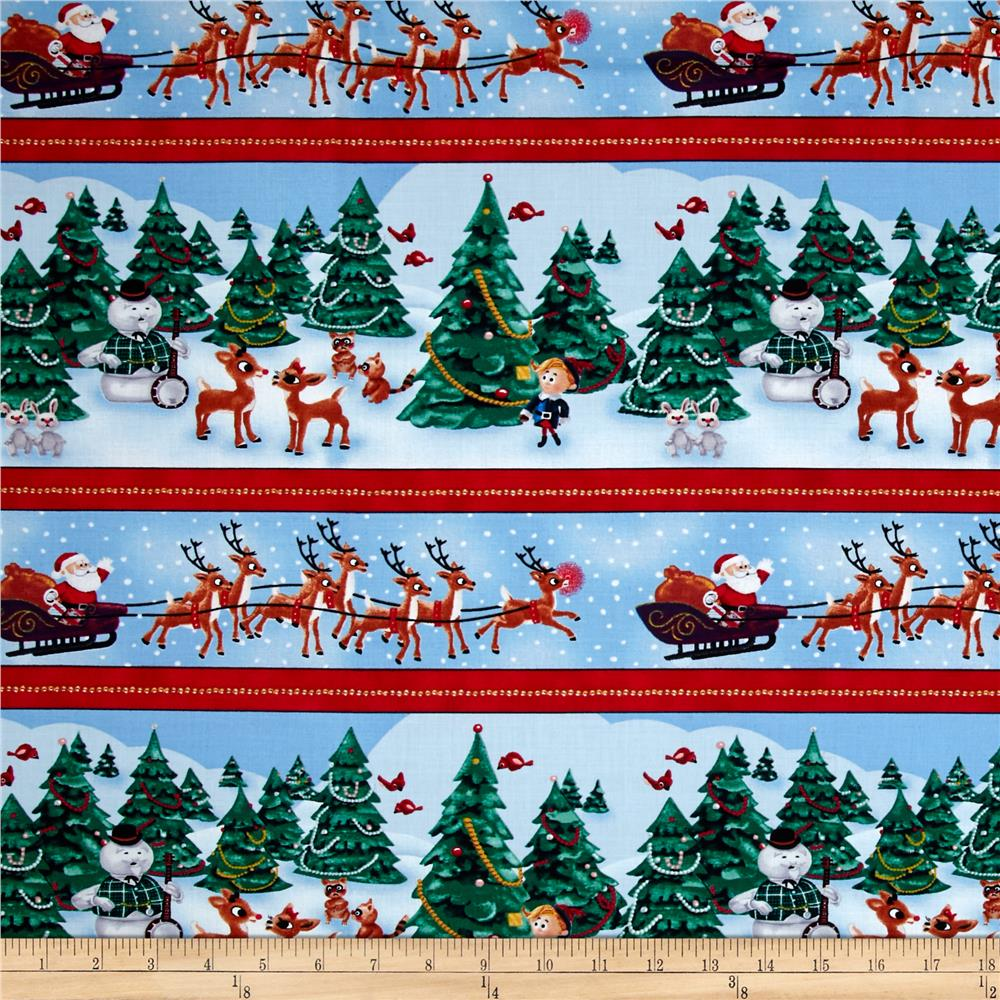 Rudolph and Friends Scenic Stripe Multi