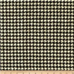 Houndstooth Wool Suiting Black/Tan