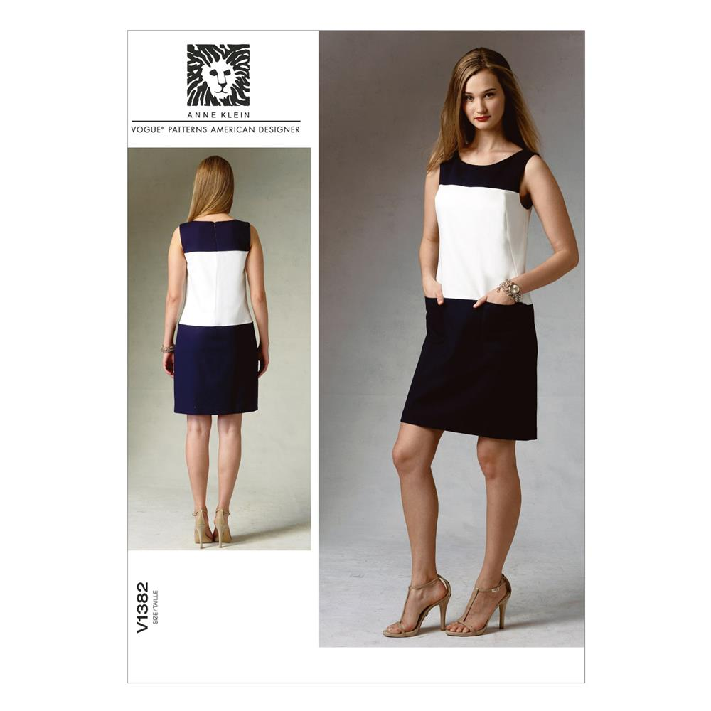 Vogue Misses' Dress Pattern V1382 Size B50
