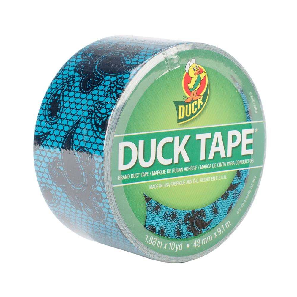 "Patterned Duck Tape 1.88"" x 10yd-Blue Lace"