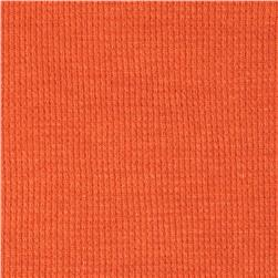 Cotton Poly Thermal Knit Rust Orange